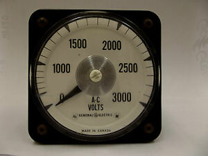 319 25s Ab 40 Lm General Electric Ac Panel Voltmeter