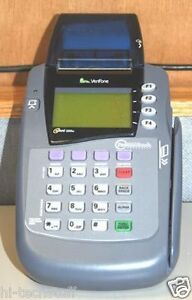 Verifone Omni 3200se Credit Card Terminal Printer Pos