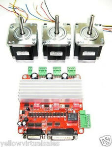3 X Nema 23 Minebea Stepper Motors Controller 200oz in Cnc Mill Lathe Router