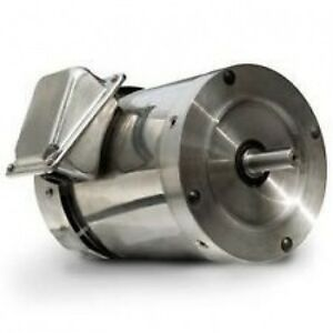 Stainless Electric Motor 1hp 3 Phase 208 230 460v W base
