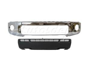For Toyota 2010 2012 Tundra Front Steel Bumper Bar Chrome Valance W O Sensor