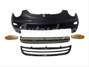For 1998 New Beetle Front Bumper Lower Valance Grille Signal Light W O Fog Hole