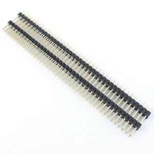 50pcs 2 54mm Pitch 2x40 Pin Male Double Insulator Straight Pin Header Strip 20mm