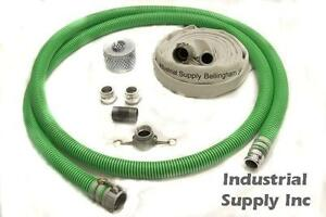 2 Ultimate Premium Mud Suction Discharge Complete Camlock Hose Kit