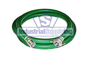 2 X 20 Green Pvc Mud Suction Hose Trash Pump fs