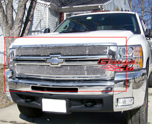 Fits Chevy Silverado 2500 3500 Stainless Mesh Grille 07 10