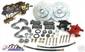 1966 1968 Chevy Belair Impala Biscayne Front Power Disc Brake Conversion Kit