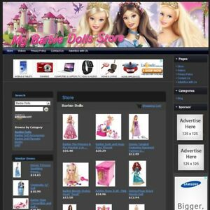 Barbie Dolls Store Affiliate Website Business For Sale Free Domain Hosting