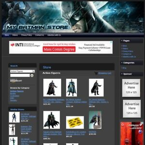 Batman Store Premium Affiliate Website Business For Sale Free Domain hosting