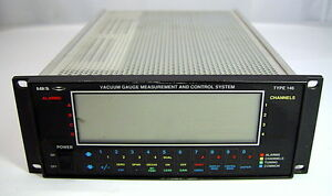 Mks Type 232 Rs 232 Interface Controller Rack Mount Vacuum Pump System