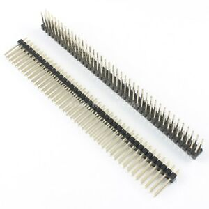 100pcs 2 54mm Male 2x40 Pin Straight Double Row Pin Header Strip Length 15mm