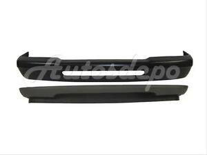 For 1993 1997 Ford Ranger Front Bumper Bar Black Valance W o Fog Hole W o Pad