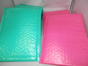 100 Hot Pink And Teal 6x9 Poly Bubble Mailers Wholesale Colored Mailers 0