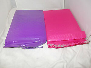 10 Hot Pink And Purple Poly Bubble Mailers 6x9 Bubble Mailing Shipping Envelopes