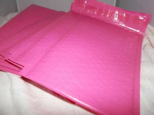 100 6x9 Hot Pink Poly Bubble Mailers Bubble Padded Mailing Shipping Envelopes