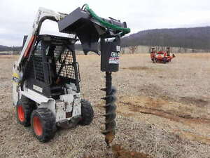 Cid Xtreme Skid Steer Auger Post Hole Digger For Bobcat Mt50 Mt52 Mt55 463 S70