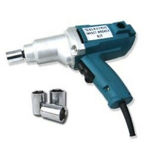 New 1 2 Electric Impact Wrench Gun Set W Case Sockets Driver Free Shipping