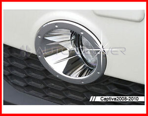 Chrome Fog Light Lamp Trim 2p For 2008 2010 Chevy Holden Captiva