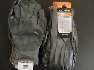 Lot Of 12 Pairs Of A m Leonard Small Nitrile Work Gloves 1890am sm
