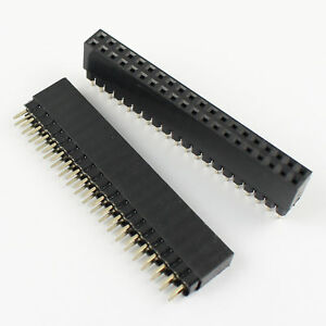 50pcs 2 54mm 2x20 Pin Female Double Row Straight Header Strip Ph 11mm Pc104