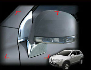 Side Mirror Bracket Chrome Moulding Cover Trim For 2008 2009 2010 Chevy Captiva