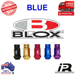 Blue M12x1 25 Blox Forged 7075 Aluminum Lug Nuts For Wrx Sti Evo Honda S14 S15
