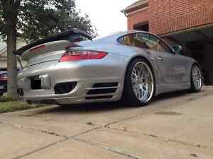Porsche 997 Turbo Gt1 Add On Wing Spoiler Tail Kit Coupe And Cab 2007 To 2012