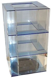 13 5 4 Panel Clear Acrylic Spinning Counter Top Display Shelf Spinner Display