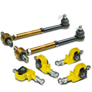 Honda Accord Acura Tl Cl Stainless Adjustable Yellow Front Gold Rear Camber Kit
