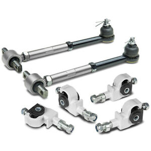 Honda Accord Acura Tl Cl Stainless Adjustable White Front Silver Rear Camber Kit