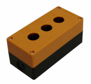 3 hole Switch Box For 22mm 7 8 Pushbutton Plastic Enclosure Power Push Button