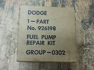 Dodge W C Wc 3 4 Ton Fuel Pump Repair Kit G502 Nos In Original Box