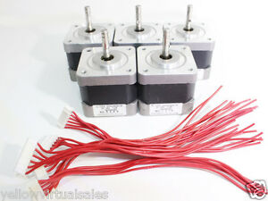 5 Nema 17 Japan Servo Stepper Motors Robot 3d Printer Arduino Cnc Router 24v