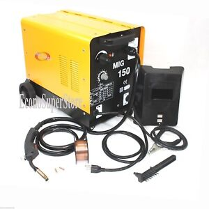 150amp Mig 150 110v Flux Core Welding Machine Gas No Gas Welder Wire Auto Feed