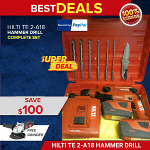 Hilti Te 2 a18 Hammer Drill Great Condition Free Bits Strong Fast Shipping