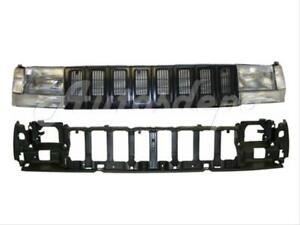 For 93 95 Jeep Grand Cherokee Header Panel Grille Headlight Signal Corner Light