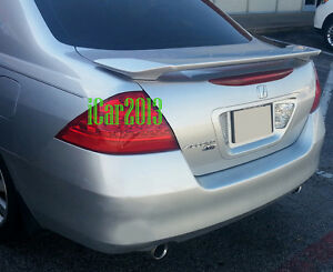 06 07 Honda Accord 4dr Factory Style Spoiler Rear Trunk Wing Primer Finish