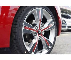 Left Right Carbon Tuning Wheel Sticker 18 1set For 2011 2016 Hyundai Veloster