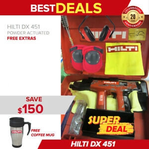 Hilti Dx 451 Power Actuated Nail Gun Free Hilti Mug Extras Fast Shipping