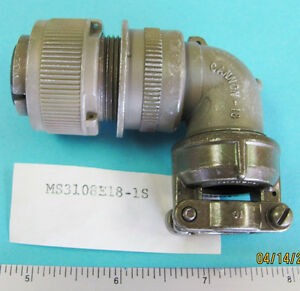 Ms3108e 18 1s 10 Pos Female Rt Angle Socket 20 7 Shell 973108e181s 693106e
