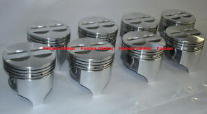 Chevy 327 Sealed Power Speed Pro Cast Flat Top Pistons Set 8 030 1962 69