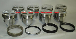 Chevy 327 Sealed Power speed Pro Cast Flat Top Pistons moly Rings Set kit Std