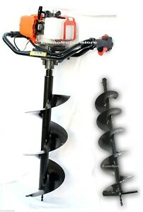 52cc Gas Power One Man Post Earth Hole Auger Digger Free 10 6 Auger Bits