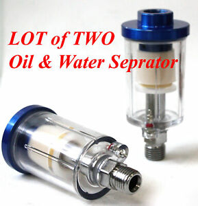 Lot Of 2 Oil Water Air In Line Separator Filter Trap For Air Spraying Job