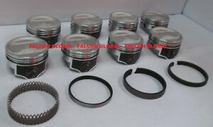 Speed Pro trw Amc jeep 401 Forged 27 5cc Dish Coated Pistons moly Rings Kit 30