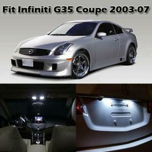 7 X White Led Lights Interior Package Deal For 2003 2007 Infiniti G35 Coupe