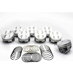 Speed Pro Trw Ford 302 5 0 Ho Forged Coated Flat Top Pistons Moly Ring Kit 060