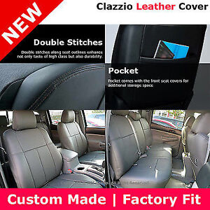 Clazzio Custom Perfect Leather Seats Cover Gray09 11 Toyota Tacoma Double Cab