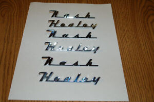Nash Healey Script Emblem Set Show Quality