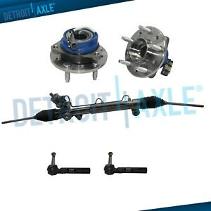 Power Steering Rack And Pinion 2 Outer Tie Rod 2 Wheel Hub Bearing Assembly